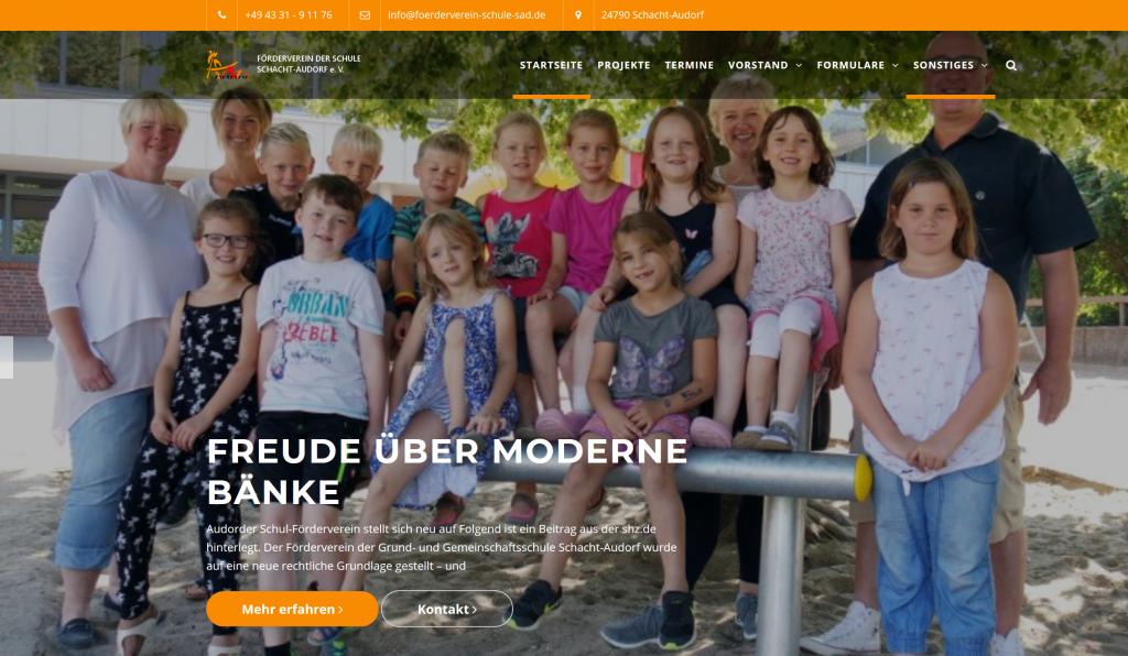 Website des Fördervereins Schule Schacht-Audorf